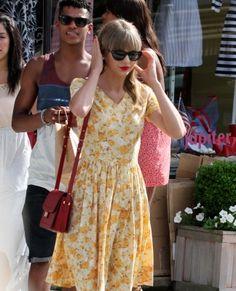 yellow floral dress a la t swift