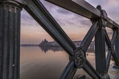 Morning glory from the Chain Bridge, Budapest