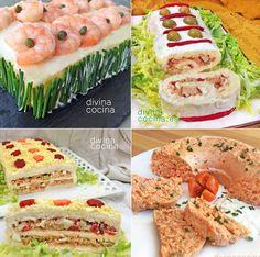 7 pasteles salados frios para invitados y fiestas