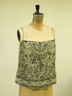ANNE KLEIN Baby Doll Camisole Bead Hemline Detail Size 6 #ANNEKLEIN #TankCami #Casual #pretty #designer #fashion #hipster #trend #babydoll #style