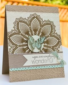 doily cards | Card Ideas - Doilies & Medallions / Stampin' Up! Doily Card by A New ...
