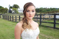 This gorgeous hair/makeup done by Sara King and Lacey West of the Southern Bridal Collective team in Nashville.   Photo Credit | Alicia Katy Photography