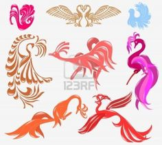 Bird Phoenix Glossy Icon Royalty Free Cliparts, Vectors, And Stock Illustration. Image 8831333.