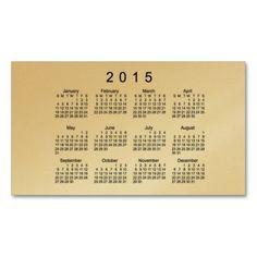 Classic Gold 2015 Calendar by Janz Business Card