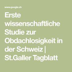 Erste wissenschaftliche Studie zur Obdachlosigkeit in der Schweiz | St.Galler Tagblatt