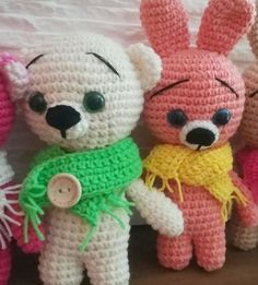 Crochet Animals, Crochet Toys, Amigurumi Toys, Diy And Crafts, Teddy Bear, Mini, Handmade, Art, Crocheted Animals