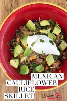 One pan recipe for the WIN!!!! This easy keto / low carb  Mexican Cauliflower Rice is a skillet meal the my whole family loved!!!! No one notice