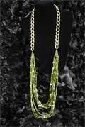 Green & Gold seabead Necklace