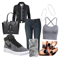 """""""A Chill Day"""" by key12 ❤ liked on Polyvore featuring LE3NO, Simply Vera, NIKE, Bloomingdale's, Michael Kors and Casetify"""