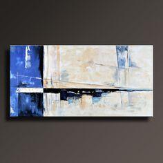 75 grande ORIGINAL pintura abstracta sobre lienzo