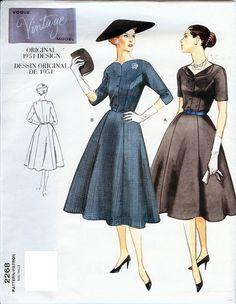 Vogue Vintage Model Original 1951 Design Pattern by AllThingsVogue, $15.00
