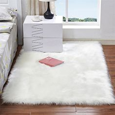 Rectangle Animal Free Soft Faux Sheepskin Fur Area Rugs for Bedroom Floor Shaggy Silky Plush Carpet White Faux Fur Rug Bedside Rugs Material - Soft Faux Sheepskin Color - Camel, Ivory, Pink, Purple and White Size - Approx. Fur Carpet, Plush Carpet, White Carpet, Patterned Carpet, Rugs On Carpet, Carpet Mat, Carpets, Stair Carpet, Green Carpet