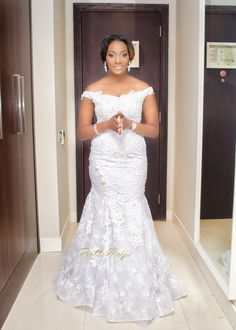 Bride's Dazzling Dress by Brides by Nona | Bunmi Alaga & Kehinde George Wedding | Finesse Photography & SC George