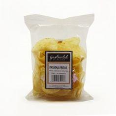 Patatas fritas crujientes con aceite de oliva 100% y sal. Peso 50grs.