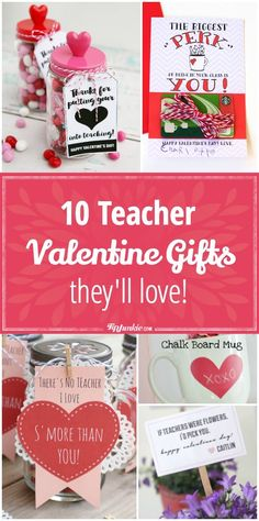 How to make teacher Valentine gifts that are so creative and cute. These homemade Valentines Gifts for teachers include gifts in a jar, coffee gift card… Secret Valentine, Teacher Valentine, Valentine Day Crafts, Happy Valentines Day, Valentine Ideas, Printable Valentine, Valentine Wreath, Valentine Activities, Valentine Party