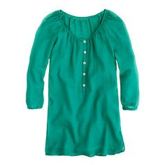 Whisper gauze beachcomber tunic (hammock green): to throw over swimsuits