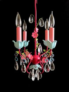 Colorful Shabby-chic lighting
