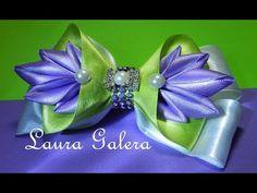 Início - YouTube Satin Ribbon Flowers, Tissue Paper Flowers, Cloth Flowers, Ribbon Art, Ribbon Bows, Fabric Flowers, Handmade Hair Bows, Diy Hair Bows, Diy Bow