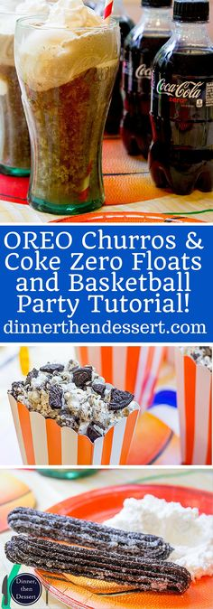 OREO Churros are crispy, tender, perfectly chocolate-y and perfectly paired with OREO filling whipped cream dip for dunking and a party tutorial for a Carnival themed Basketball Party! AD. Now you can have the viral recipe made easy. #GreatTasteTourney Easy Healthy Dinners, Healthy Dinner Recipes, Mexican Food Recipes, New Recipes, Dessert Recipes, Favorite Recipes, Large Family Meals, Meals For Two, Oreo Churros