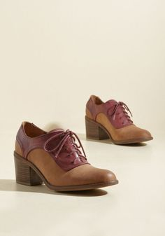 Call upon these Oxford heels by BC Footwear whenever you want to give your outfit an intelligent twist! Crafted from vegan-friendly faux leather, accented in burgundy, and supported by block heels with a stacked look, these tan kicks brilliantly answer your request for an academic aesthetic. By the way, you can purchase this pair in November!