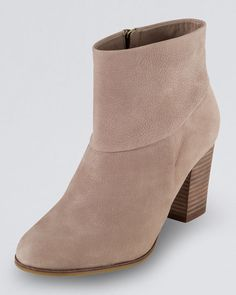 Cole Haan nude ankle boot with stacked heel
