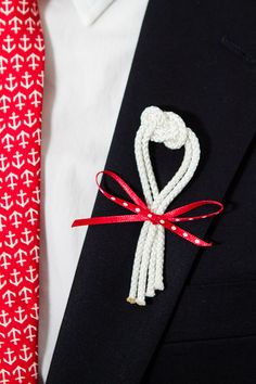 sailors knot boutonniere image by Fucci's Photos