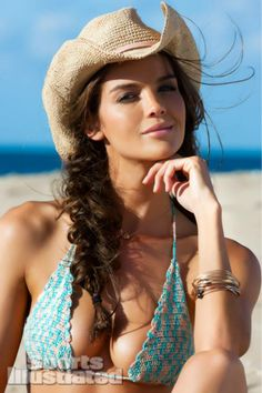 Natasha Barnard -- Sports Illustrated Swimsuit 2013. When is the last time you saw a crocheted bikini?