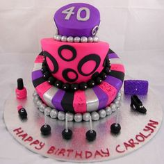 40th Birthday Cakes For Women