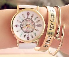 Coach Women's Signature Etched Rose Gold-Plated Bangle ...