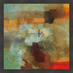 Artist: Randy Hibberd Title: Big City II Product type: Framed Print Style: Contemporary Format: Square Size: Large Subject: Abstract Frame: Dark ebony with a wood grain feel. Image dimensions: 30 inch