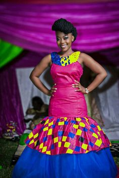 """Piko© 's zambian kitchen party dresses Photo. Pinned in """"All things Chitenge"""" . See the bigger picture! African Print Fashion, African Fashion Dresses, African Dress, Ankara Fashion, Hells Kitchen, Chitenge Dresses, African Wedding Attire, African Weddings, African Attire"""
