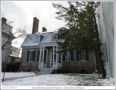 A dusting of snow on the ground at the John Brice II House, c. 1720's, just after sunrise in the Annapolis Maryland Historic District. Photograph posted on February 10th 2014. To see a full size version of this photograph and the Annapolis Experience Blog article click on the Visit Site button. Image and article Copyright © 2015 G J Gibson Photography LLC.