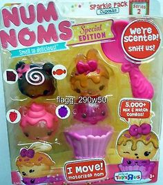 *Num Noms* SPARKLE PACK CUPCAKE SPECIAL EDITION SCENTED 5 PACK SET- Series 2