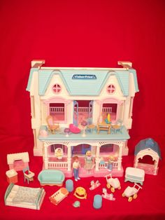 $49.99 on e-bay! Includes the house and the furniture! Totally have this still!!! Wyatt plays with it lol