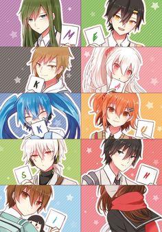 """Amamiya Hibiya"" ""As ""Amamiya Hibiya"" ""Asahina Hiyori"" ""ENE"" ""Enomoto Takane"" ""Kano Shuuya"" ""Kido Tsubomi"" ""Kisaragi Momo"" ""Kisaragi Shintarou"" ""Kokonose Haruka"" ""Konoha"" ""Kozakura Mary"" ""Seto Kousuke"" ""Tateyama Ayano"" Anime Chibi, Miku Chibi, Manga Anime, Hatsune Miku, Manga Art, Kawaii Anime, Anime Art, Mekakucity Actors Konoha, Hxh Characters"