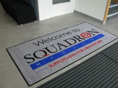 Logo mat on a wash only contract, Gmats supplied the mat.