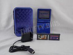 Nintendo Game Boy Advance SP Cobalt Blue With Namco Museum & RugRats Games & Cas #Nintendo
