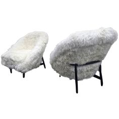 Theo Ruth for Artifort 1950s Chairs Newly Covered in Sheep Fur | From a unique collection of antique and modern armchairs at https://www.1stdibs.com/furniture/seating/armchairs/