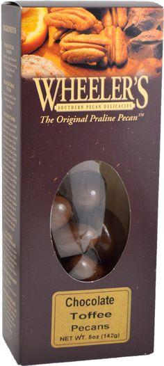 Wheeler's Chocolate Toffee Pecans, 5 oz.