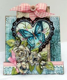 Butterfly Center Step Card