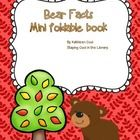 """This is a free one page foldable minibook about bear facts. It is perfect for preschool and kindergartners. Hope you find it useful!This would be useful to use with """"The Three Bears (Sort of)"""" Picture book Bears Preschool, Bear Theme, Kid Books, First Page, Teaching Reading, Book Activities, Kindergarten, Facts, Education"""