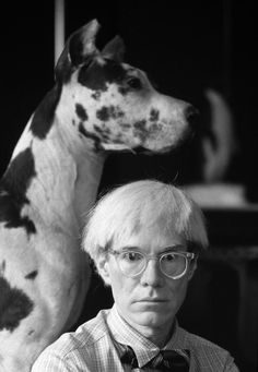 Andy Warhol and his dog at the Factory in New York Photography by Gianfranco Gorgoni, courtesy of ContiniArtUK