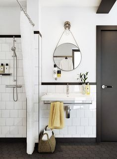 White subway tile bathroom in Houses