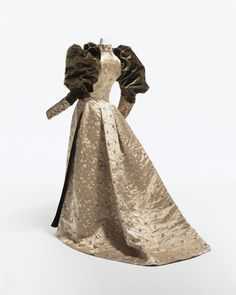 Dinner Dress c. 1892 by Frederick Worth