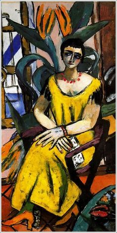 Max Beckmann - Portrait with Birds of Paradise, 1937
