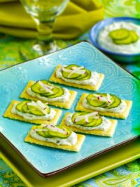 Easy to Make Cool Cucumber Cracker Appetizer