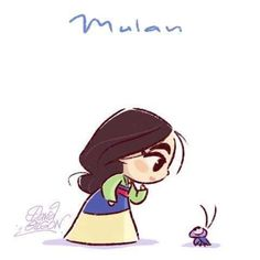 Mulan and Crickee by David Gilson - Mulan