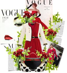 """""""Vintage Vogue"""" by lisabedow on Polyvore"""