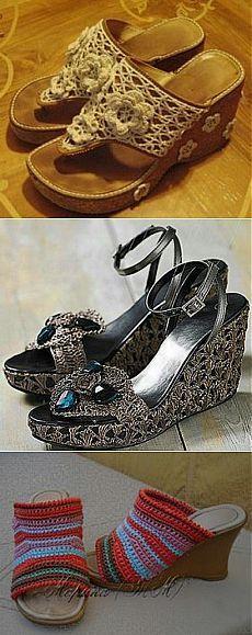 """Вяжем обувь на """"Осинке""""."""