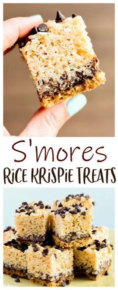 Enjoy these S'mores Rice Krispie Treats any time of the year! They are layered with graham crackers, chocolate, and marshmallows with a crispy crunch in every bite! Rice Recipes For Dinner, Best Dessert Recipes, Sweet Recipes, Smores Dessert, Köstliche Desserts, Delicious Desserts, Marshmallows, Reis Krispies, Chocolate Graham Crackers